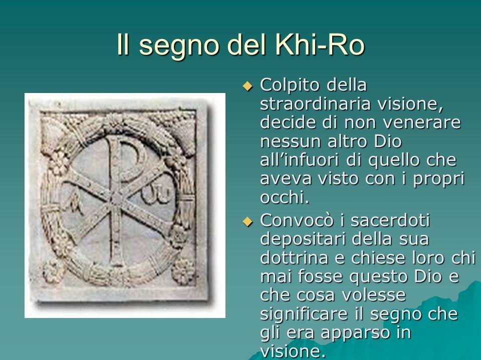 Il segno del Khi-Ro