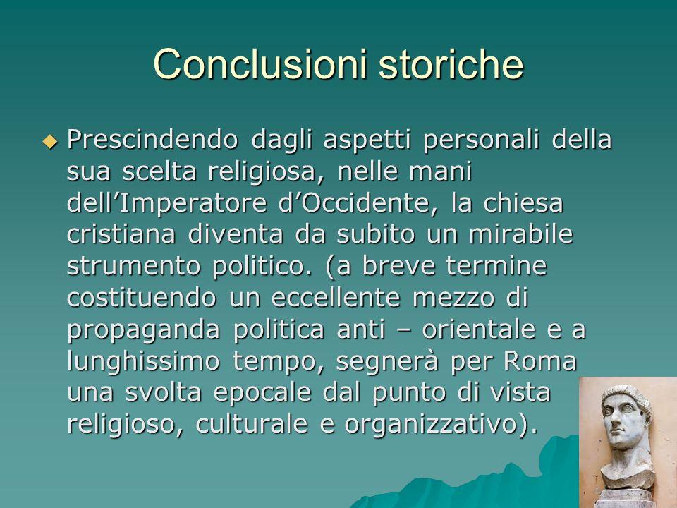 Conclusioni storiche