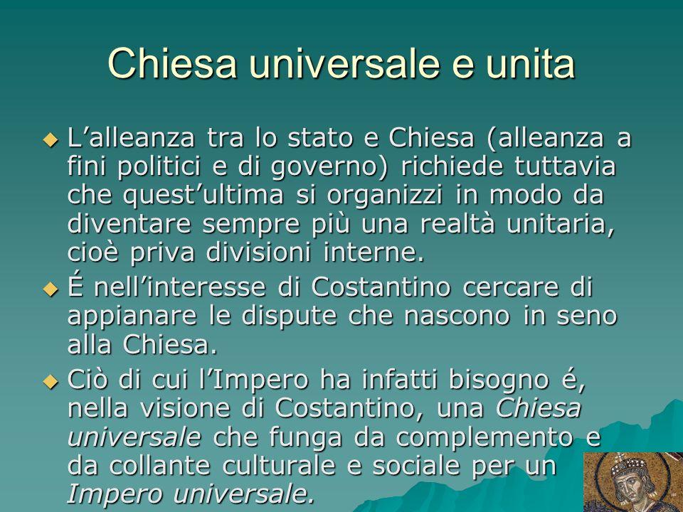 Chiesa universale e unita