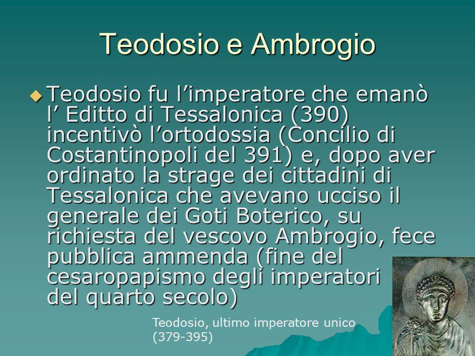 Teodosio e Ambrogio