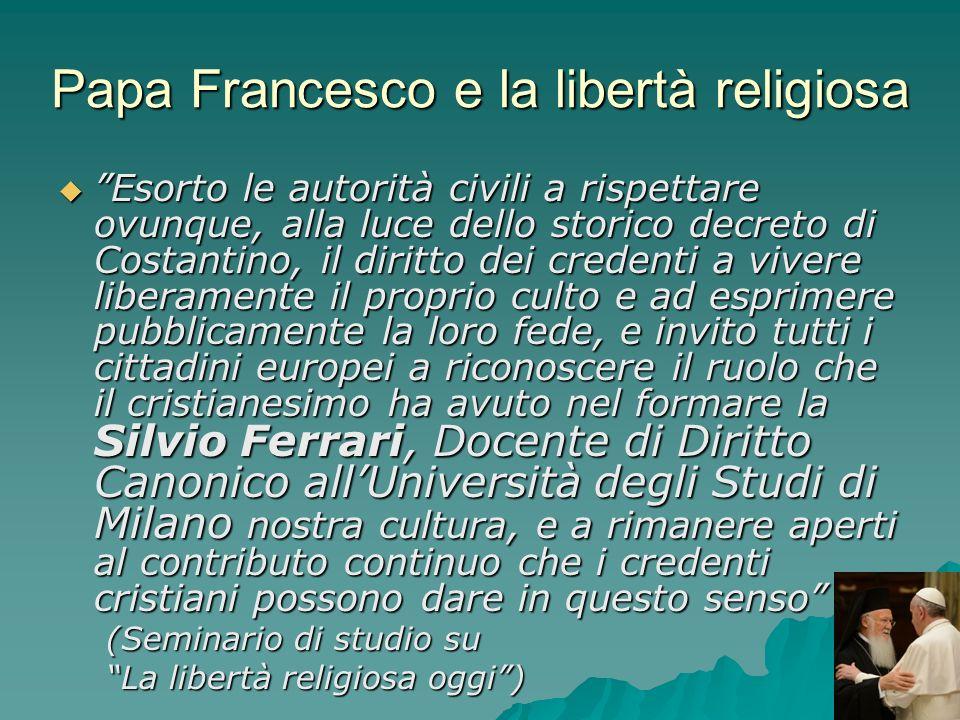 Papa Francesco e la libertà religiosa