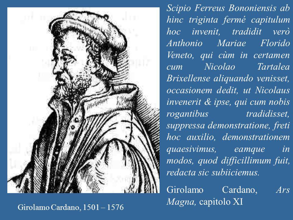Girolamo Cardano, Ars Magna, capitolo XI