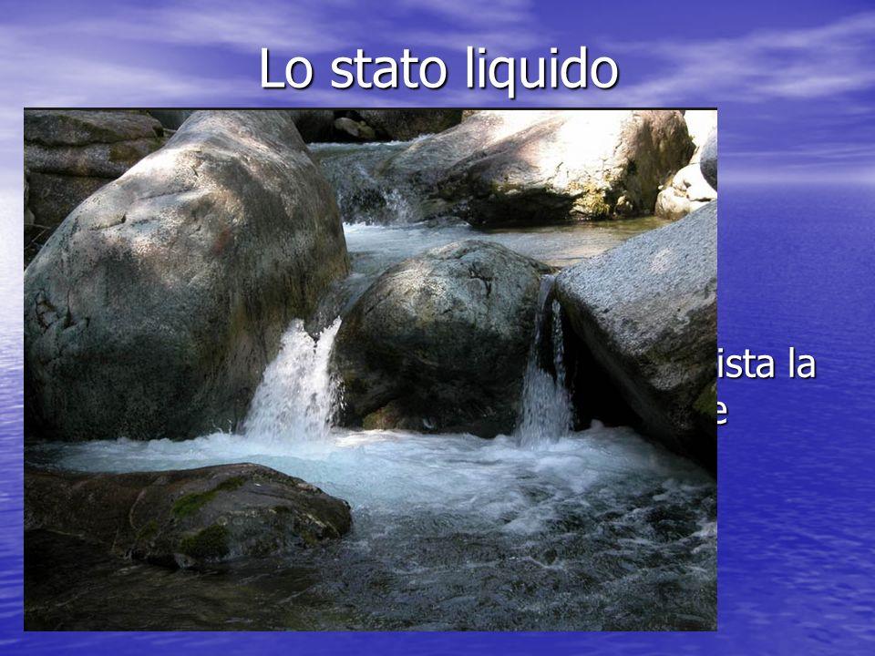 Lo stato liquido Lo stato solido ha le seguenti caratteristiche: