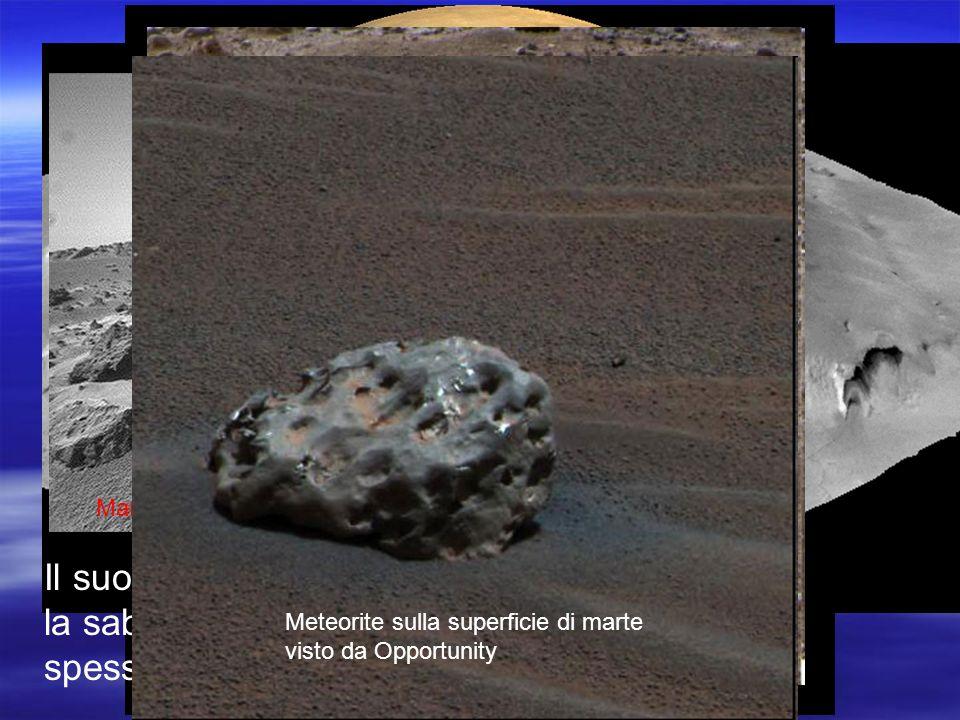 Marte non presenta catene montuose come quelle terrestri e le montagne sono di origine vulcanica
