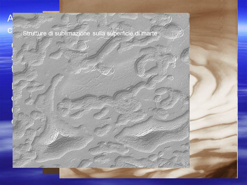 Altra caratteristica notevole di marte sono le sue calotte polari che ricoprono i poli del pianeta