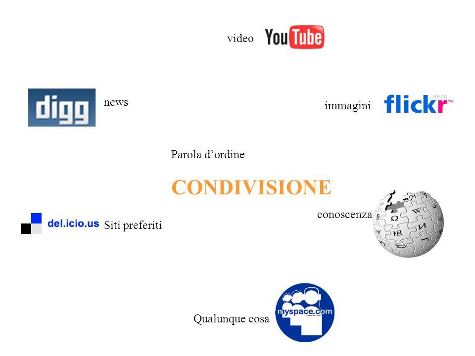 CONDIVISIONE video news immagini Parola d'ordine conoscenza