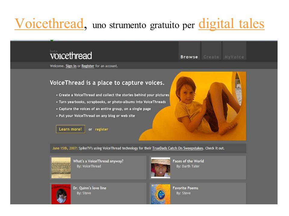 Voicethread, uno strumento gratuito per digital tales