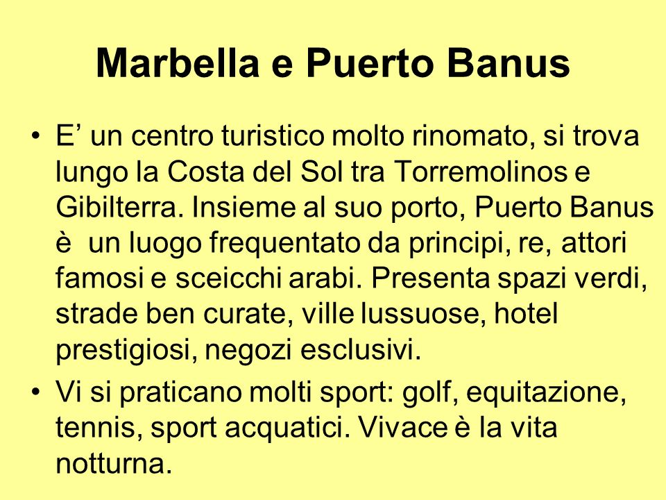 Marbella e Puerto Banus