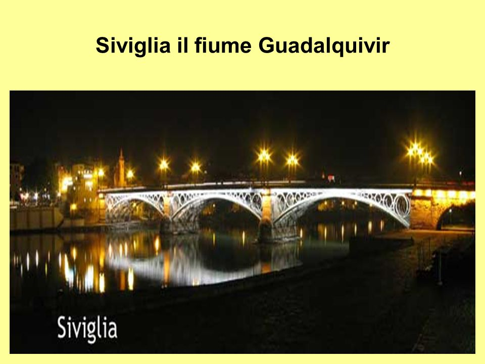 Siviglia il fiume Guadalquivir