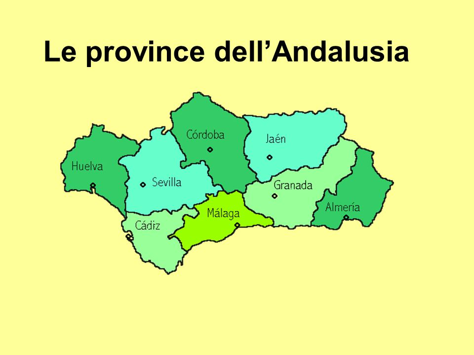 Le province dell'Andalusia