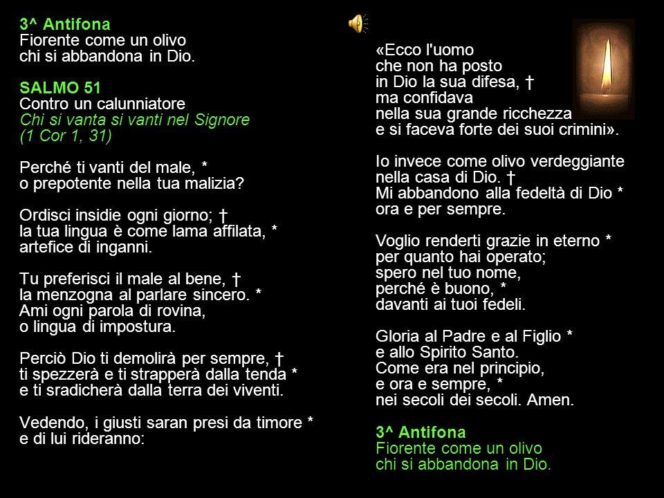 3^ Antifona Fiorente come un olivo chi si abbandona in Dio