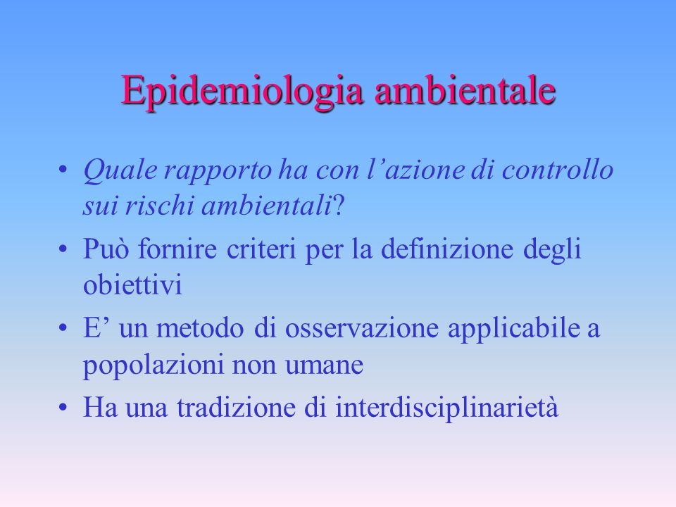 Epidemiologia ambientale