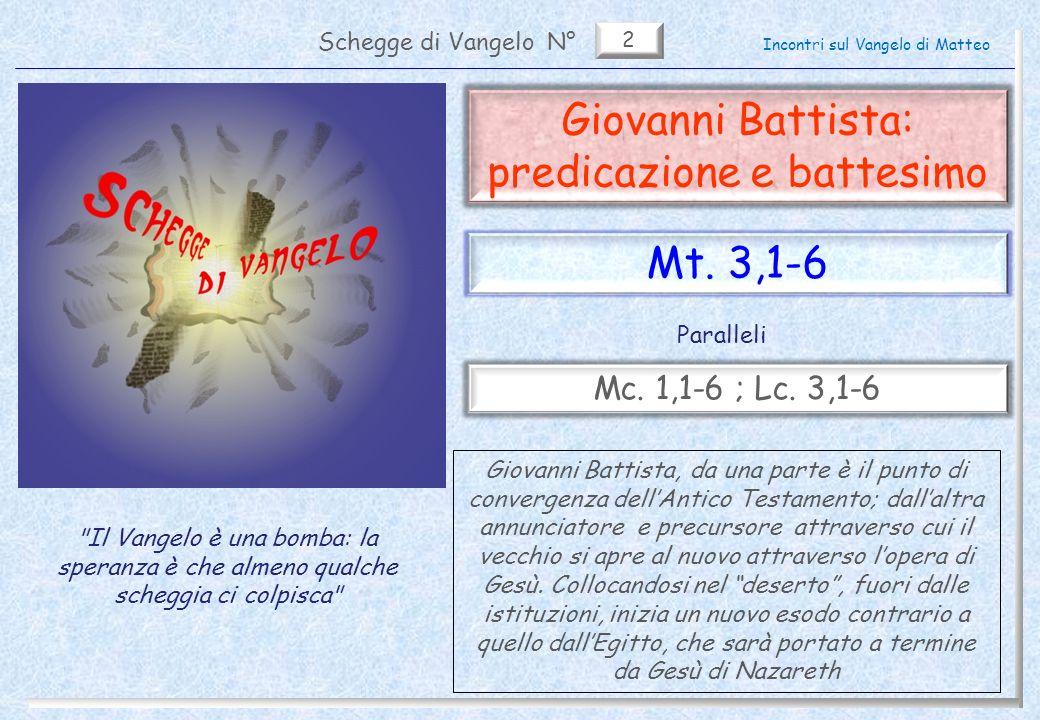 Giovanni Battista: predicazione e battesimo