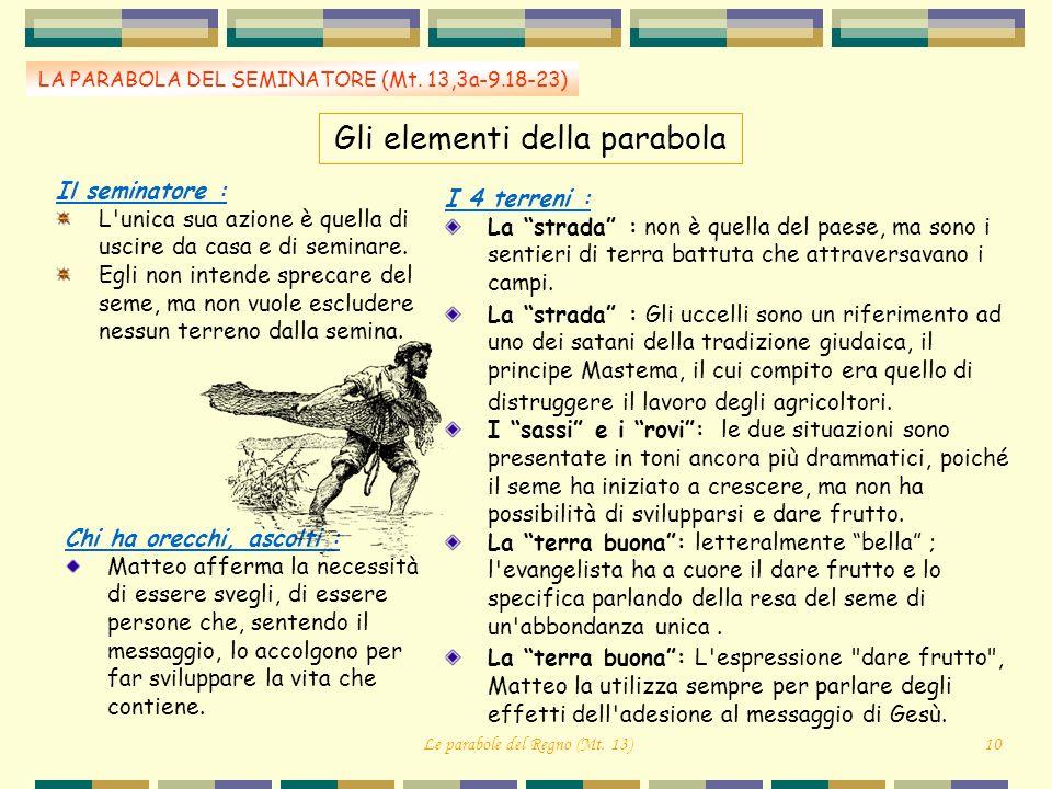 Gli elementi della parabola