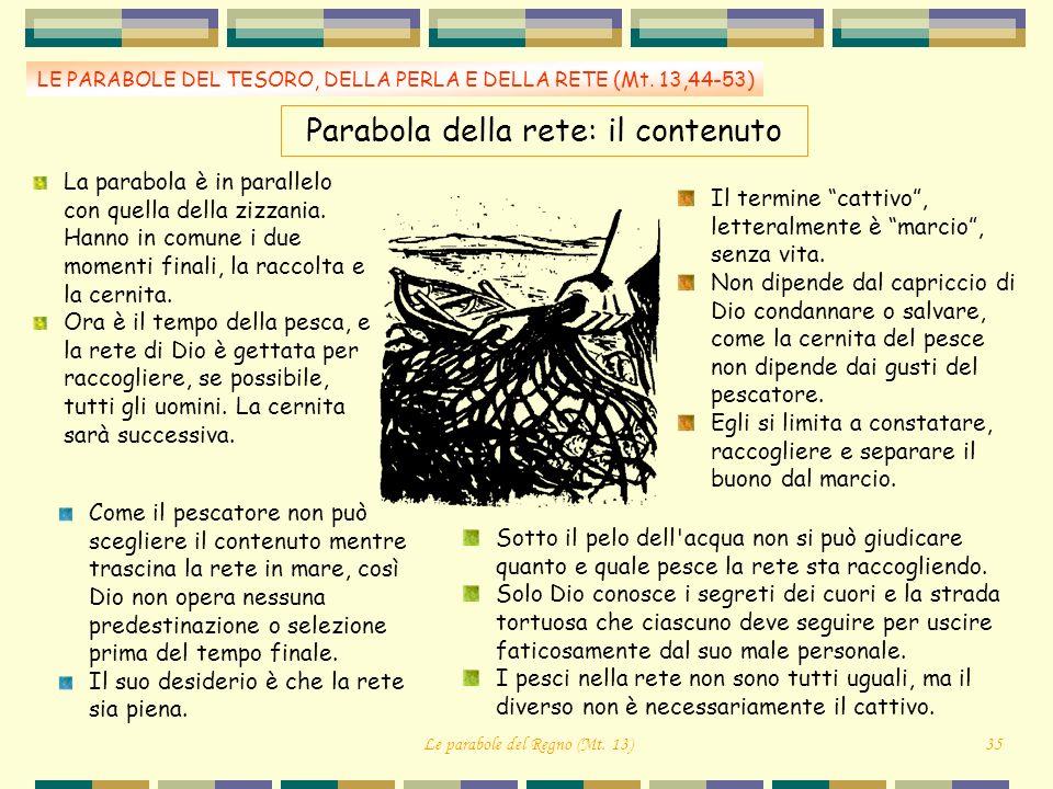 Parabola della rete: il contenuto