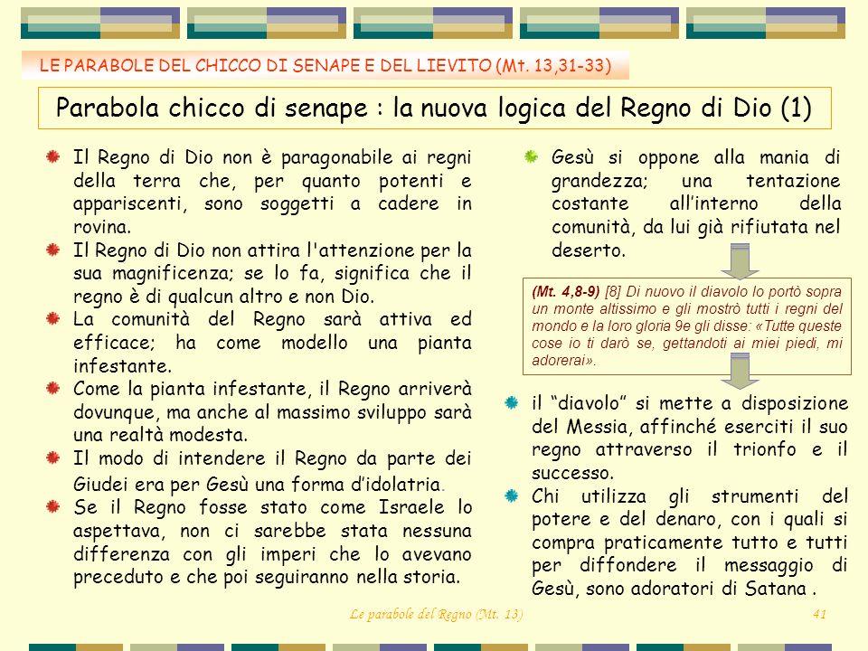 Parabola chicco di senape : la nuova logica del Regno di Dio (1)
