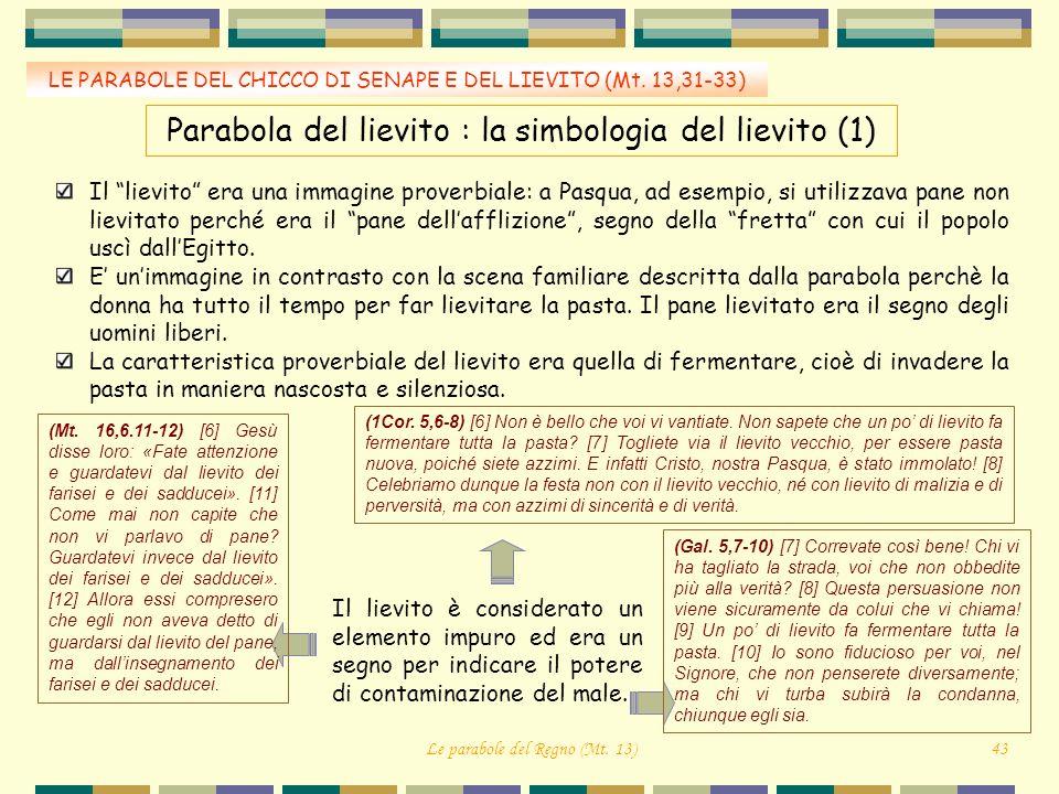 Parabola del lievito : la simbologia del lievito (1)