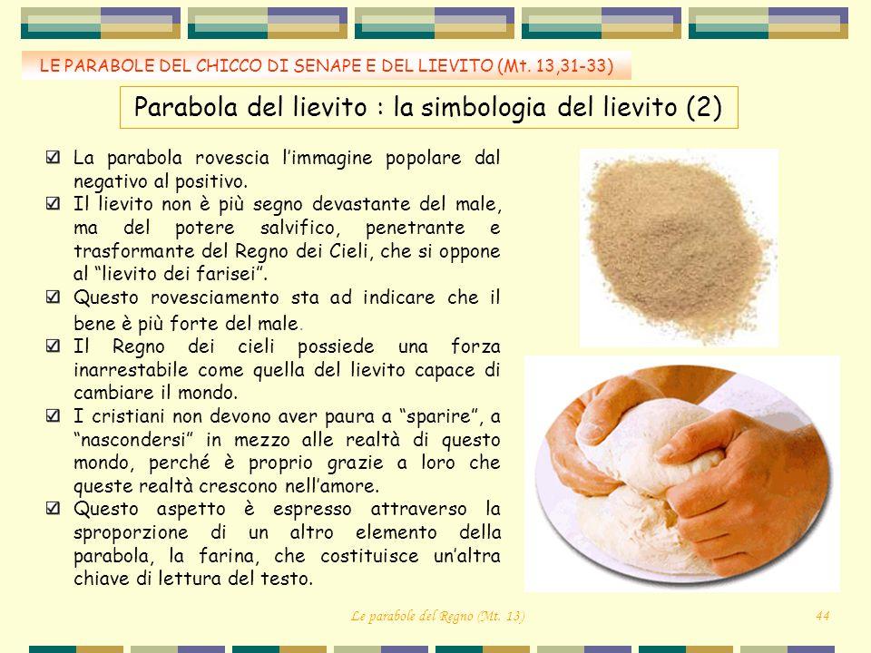 Parabola del lievito : la simbologia del lievito (2)