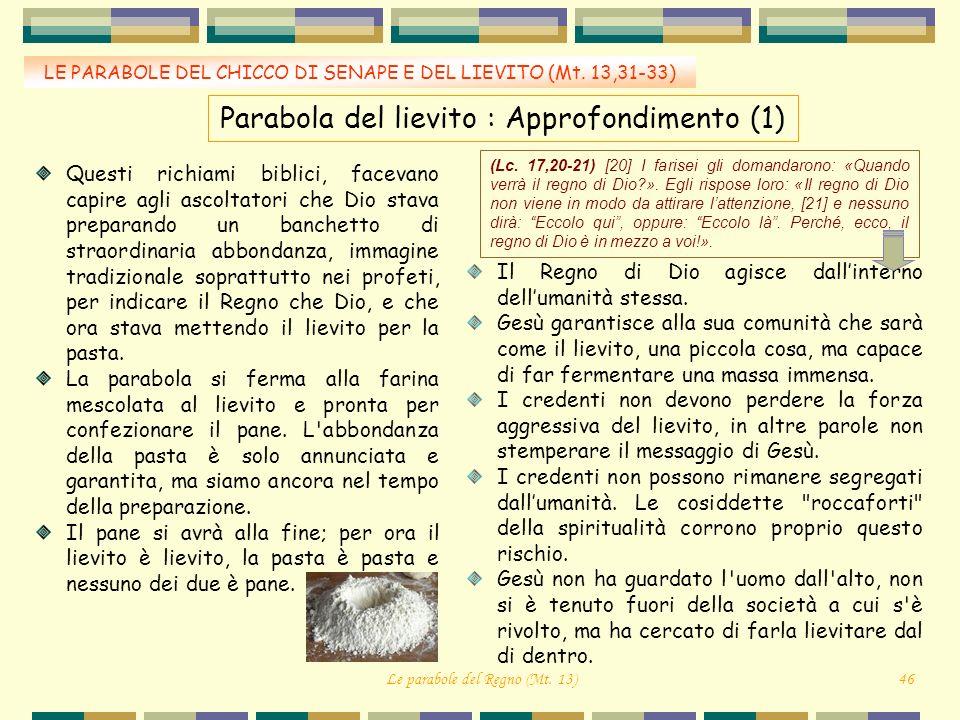 Parabola del lievito : Approfondimento (1)