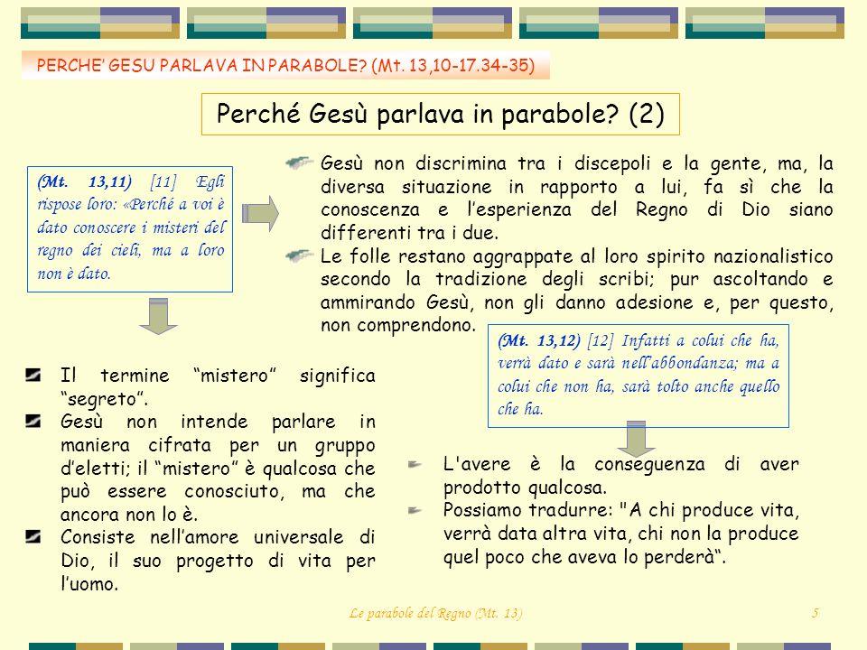 Perché Gesù parlava in parabole (2)