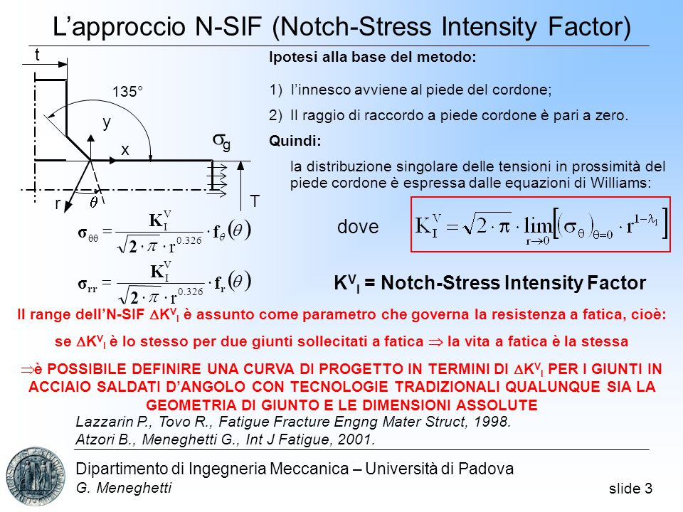 L'approccio N-SIF (Notch-Stress Intensity Factor)