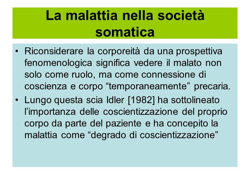La malattia nella società somatica