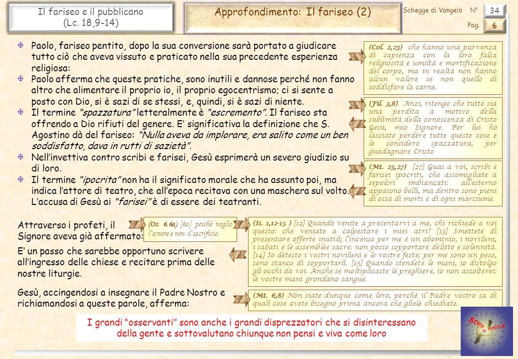 Approfondimento: Il fariseo (2)