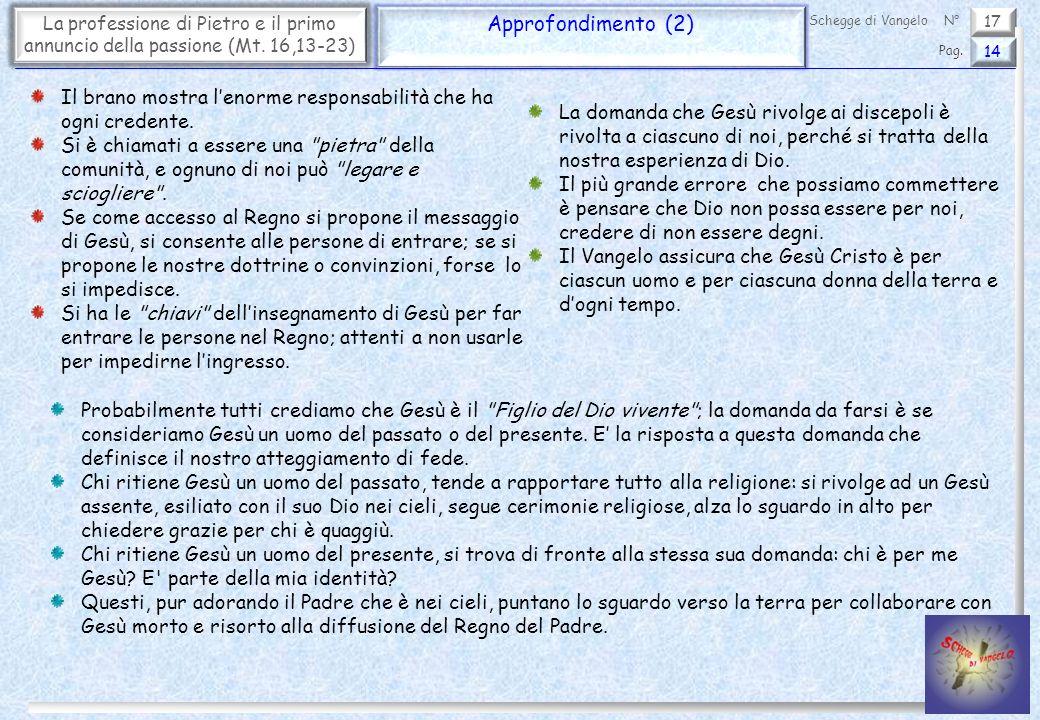 La professione di Pietro e il primo annuncio della passione (Mt