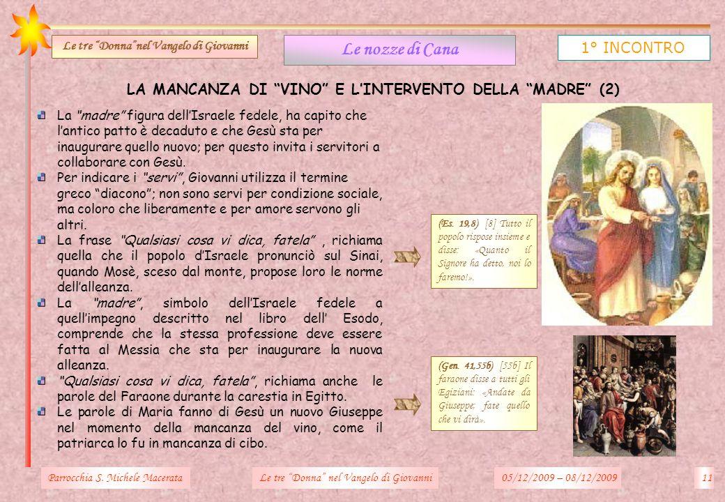 Le nozze di Cana 1° INCONTRO