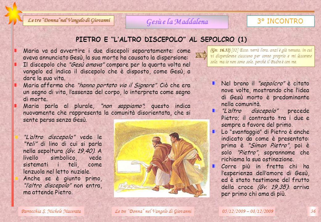 Gesù e la Maddalena 3° INCONTRO