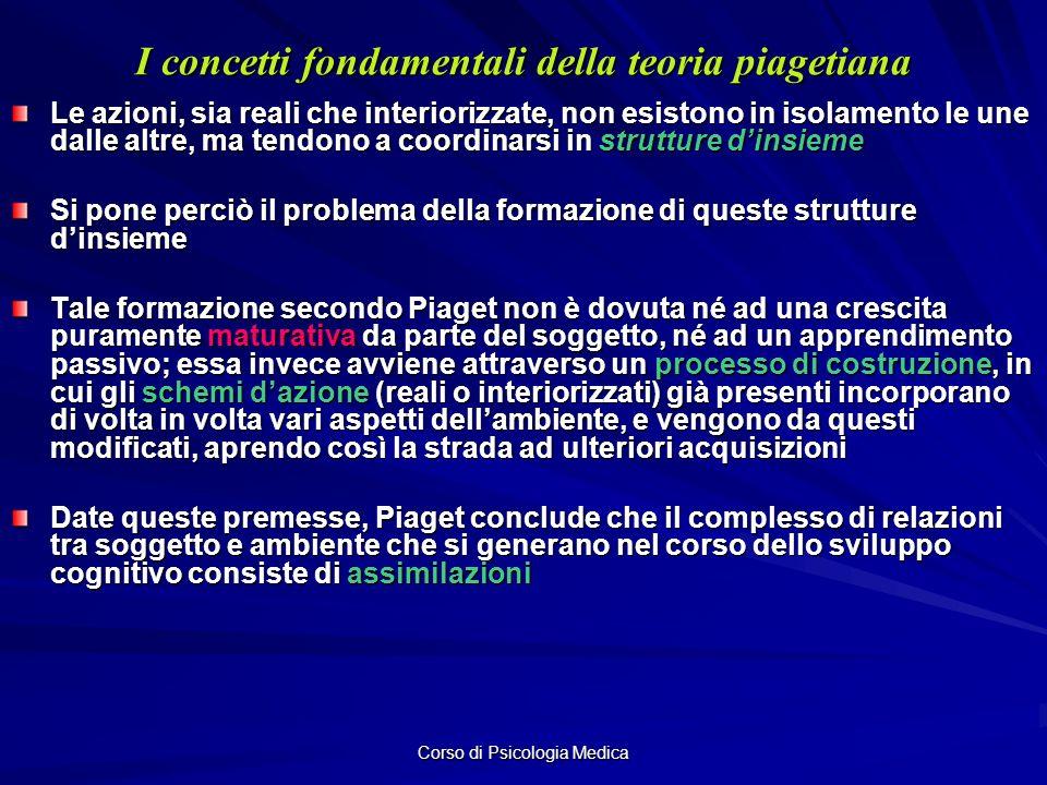 I concetti fondamentali della teoria piagetiana