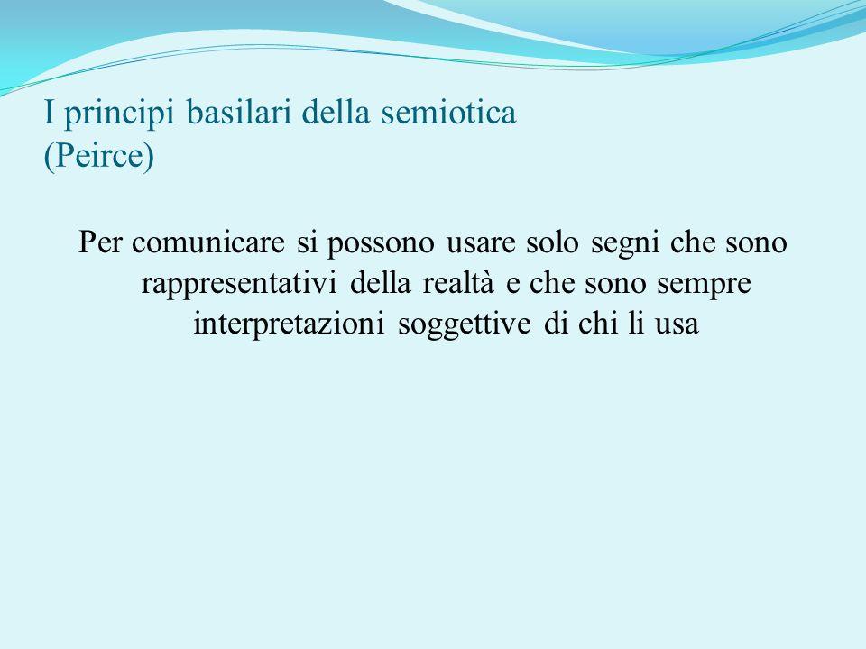 I principi basilari della semiotica (Peirce)