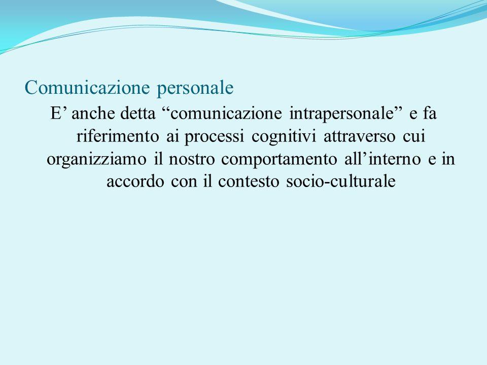 Comunicazione personale