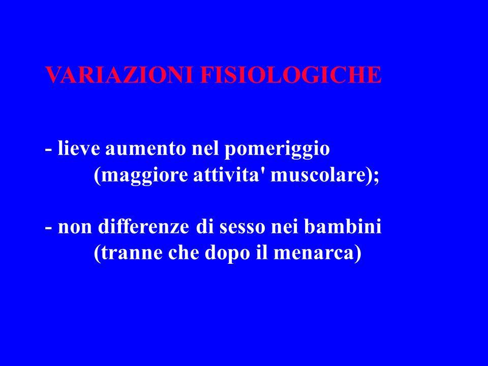 VARIAZIONI FISIOLOGICHE