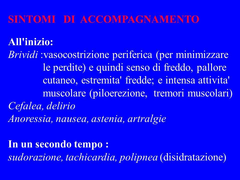 SINTOMI DI ACCOMPAGNAMENTO