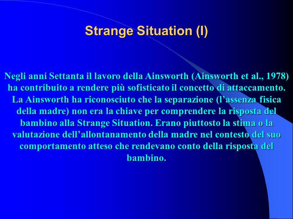Strange Situation (I)