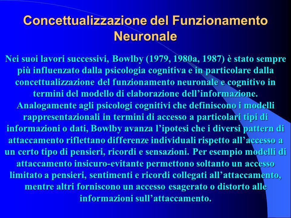 Concettualizzazione del Funzionamento Neuronale