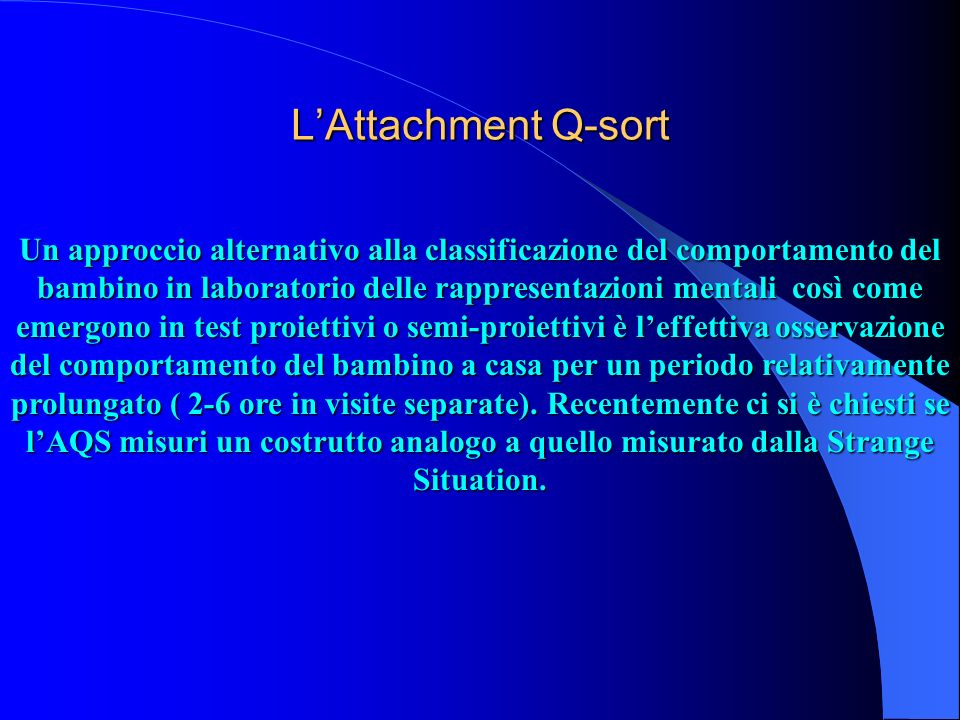L'Attachment Q-sort