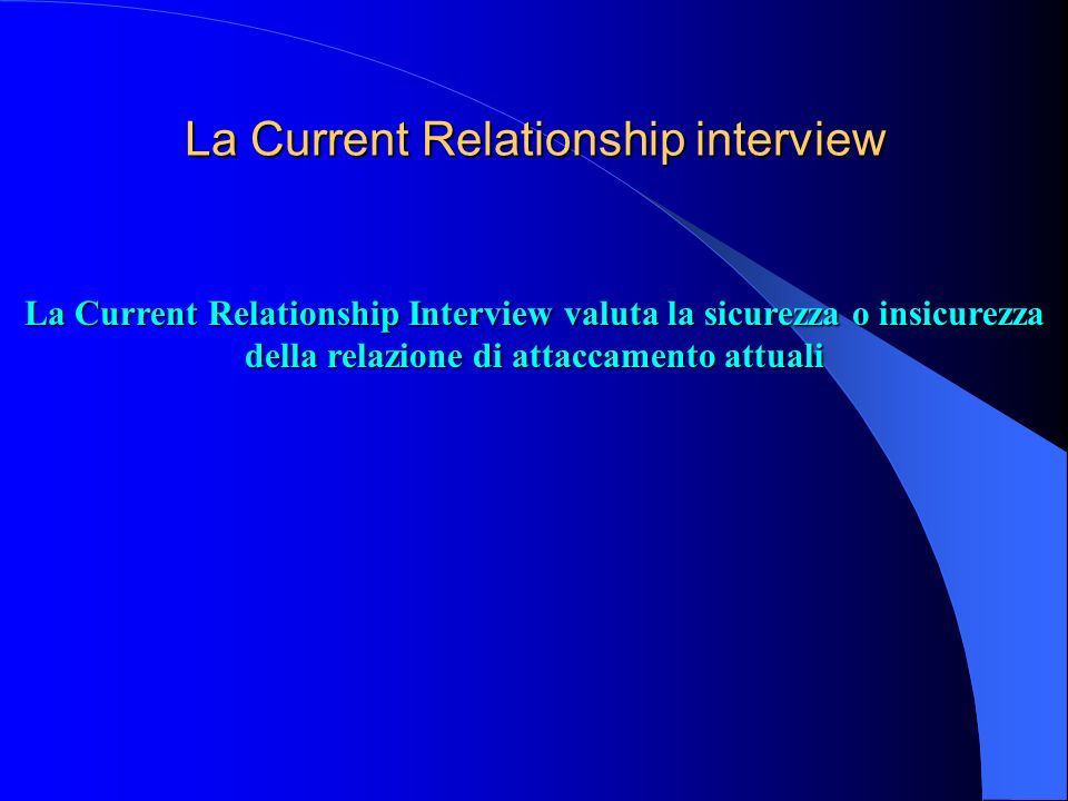 La Current Relationship interview