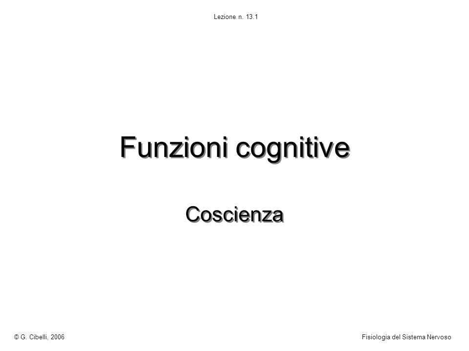 Funzioni cognitive Coscienza © G. Cibelli, 2006