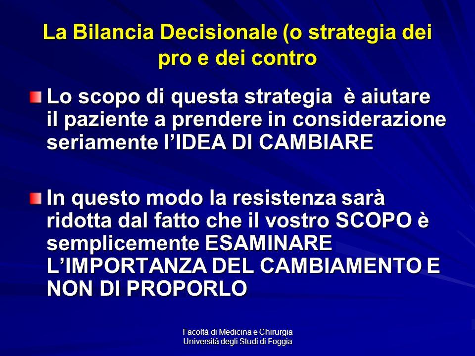 La Bilancia Decisionale (o strategia dei pro e dei contro