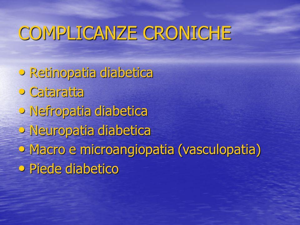COMPLICANZE CRONICHE Retinopatia diabetica Cataratta