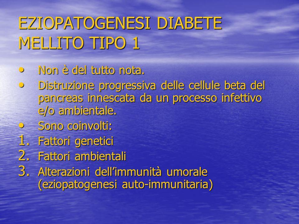 EZIOPATOGENESI DIABETE MELLITO TIPO 1