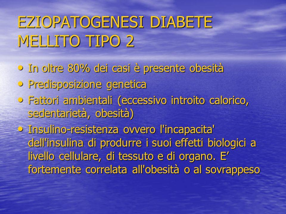 EZIOPATOGENESI DIABETE MELLITO TIPO 2