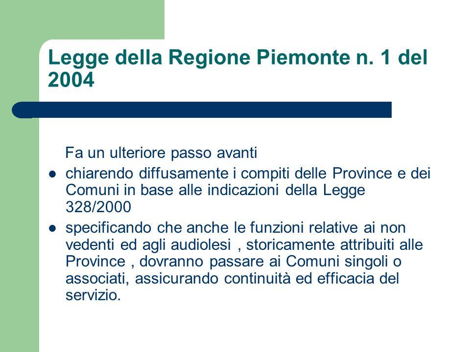 Legge della Regione Piemonte n. 1 del 2004