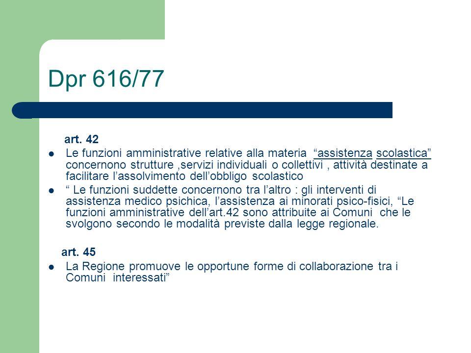 Dpr 616/77 art. 42.