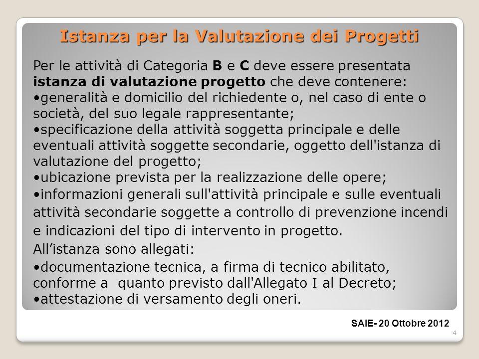 Istanza per la Valutazione dei Progetti