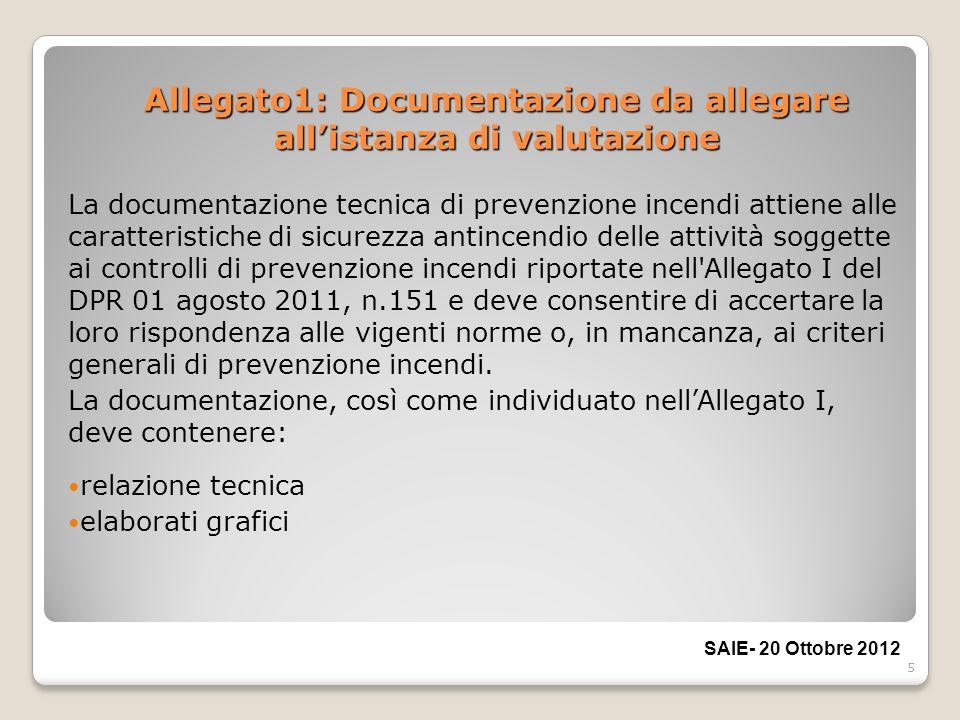 Allegato1: Documentazione da allegare all'istanza di valutazione