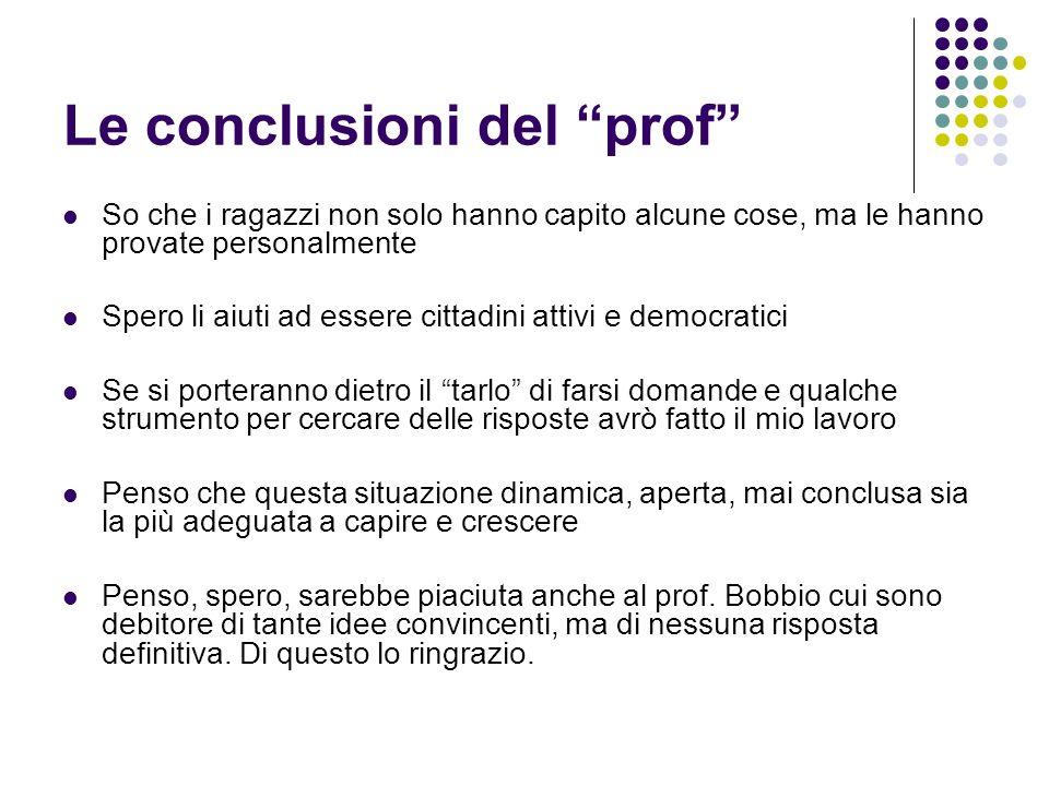 Le conclusioni del prof