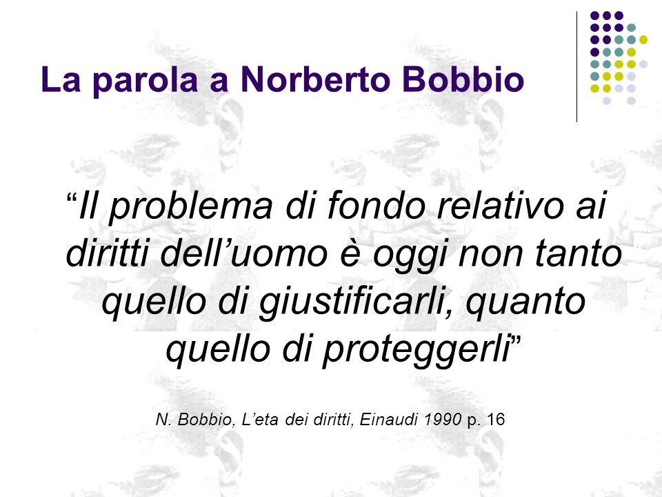 La parola a Norberto Bobbio